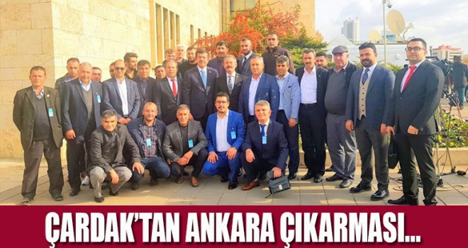Çardak'tan Ankara'ya çıkarma