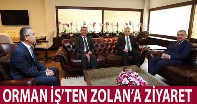 Öz Orman-İş Başkan Osman Zolan'a ziyaret