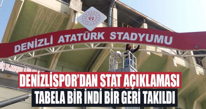 Denizlispor'dan stadyum açıklaması