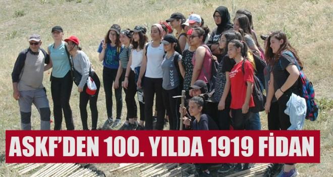 ASKF'den 100. Yılda 1919 fidan