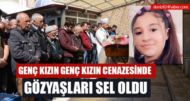 Genç Kızın Cenazesinde gözyaşları sel oldu