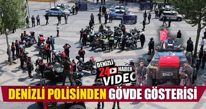 Denizli Polisinden Gövde Gösterisi