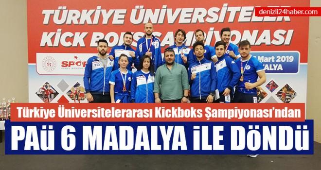 Kickboks Şampiyonası'ndan  PAÜ 6 Madalya ile Döndü