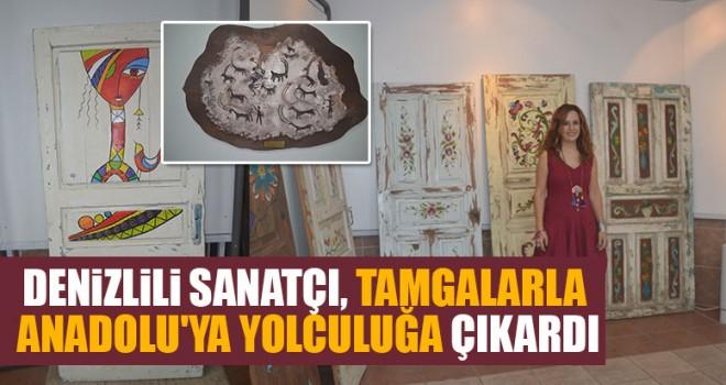 Denizlili Sanatçı Tamgalarla Anadolu'ya Yolculuğa Çıkardı