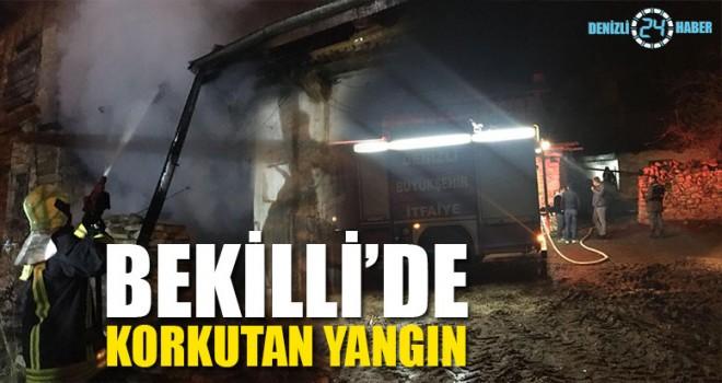 Bekilli'de Korkutan Yangın