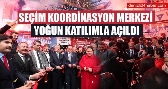 Seçim Koordinasyon Merkezi Yoğun Katılımla Açıldı