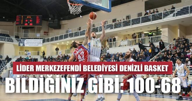 Lider Merkezefendi Belediyesi Denizli Basket Bildiğiniz Gibi: 100-68