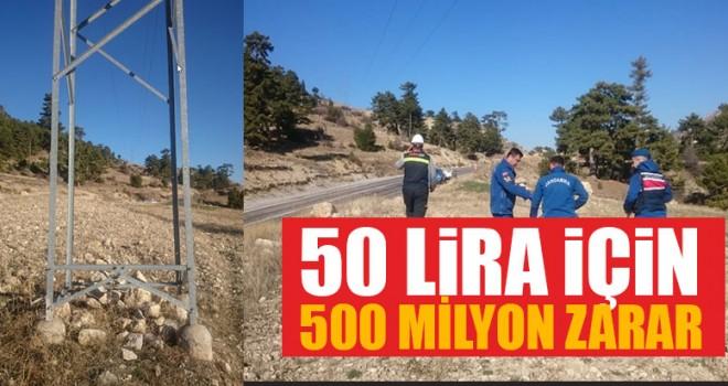 50 Lira İçin 500 Milyon Zarar