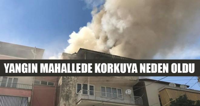 Yangın Mahallede Korkuya Neden Oldu
