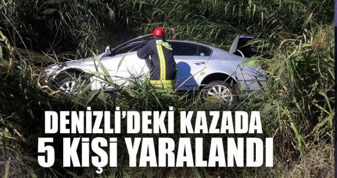 Denizli'deki Kazada 5 Kişi Yaralandı