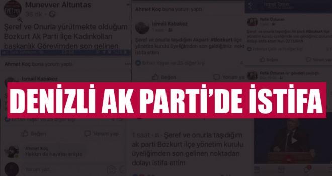 Denizli AK Parti'de İstifa