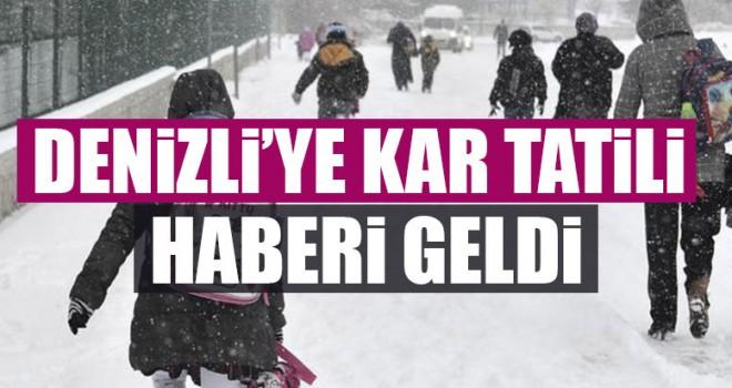 Denizli'ye Kar Tatili Haberi Geldi