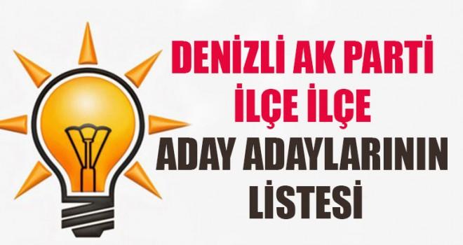 Denizli AK Parti İlçe İlçe Aday Adaylarının Listesi