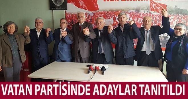 Vatan Partisi 5 ilçede adaylarını açıkladı