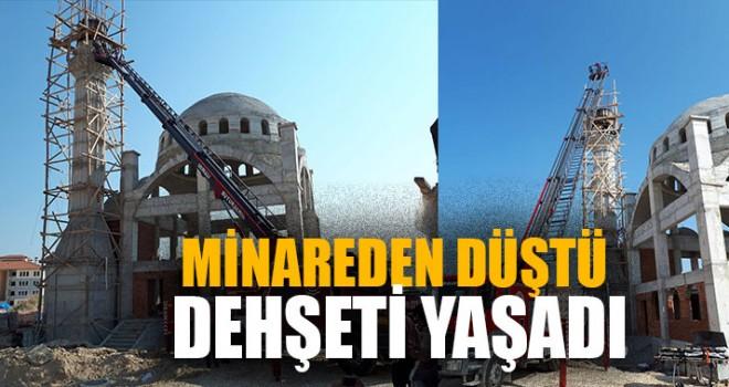 Minareden Düştü Dehşeti Yaşadı