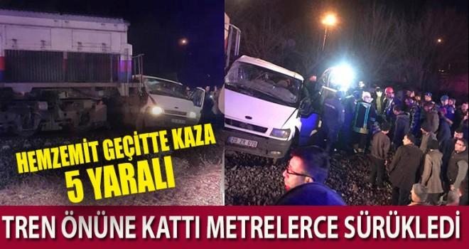 Denizli'de hemzemin geçitte kaza 5 yaralı