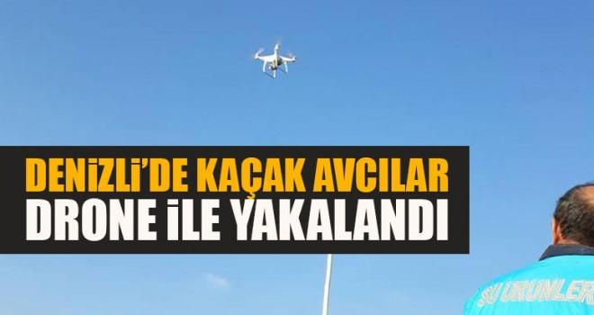 Denizli'de Kaçak Avcılar Drone İle Yakalandı