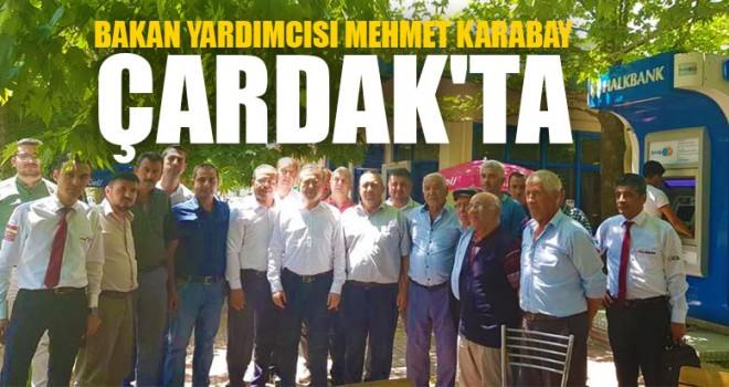 Bakan Yardımcısı Mehmet Karabay Çardak'ta