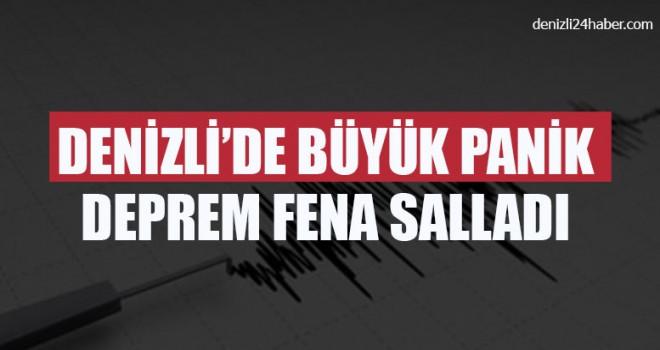 Denizli'de deprem paniğe neden oldu
