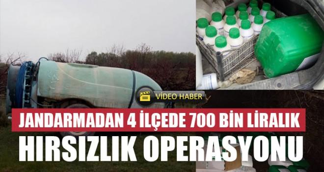 Jandarmadan 4 İlçede 700 Bin Liralık Hırsızlık Operasyonu