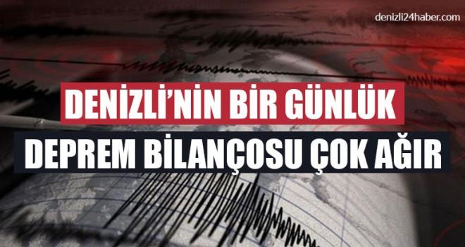Denizli'nin Bir Günlük Deprem Bilançosu Çok Ağır