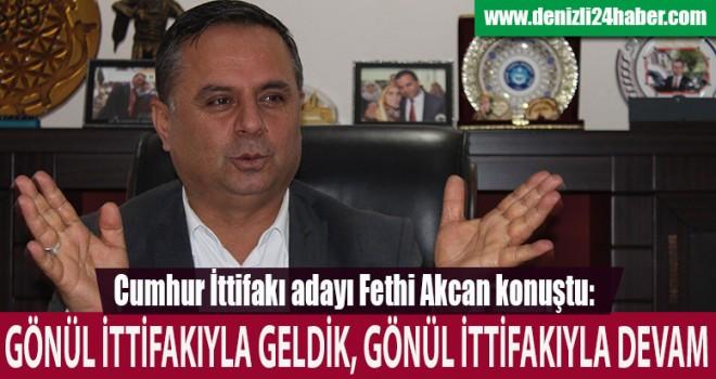 Cumhur İttifakı adayı Akcan'dan önemli mesajlar