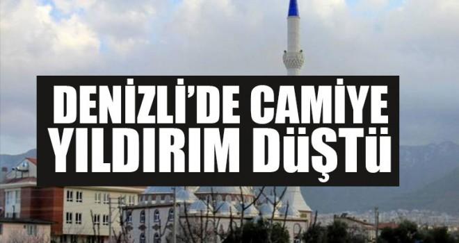 Denizli'de Camiye Yıldırım Düştü