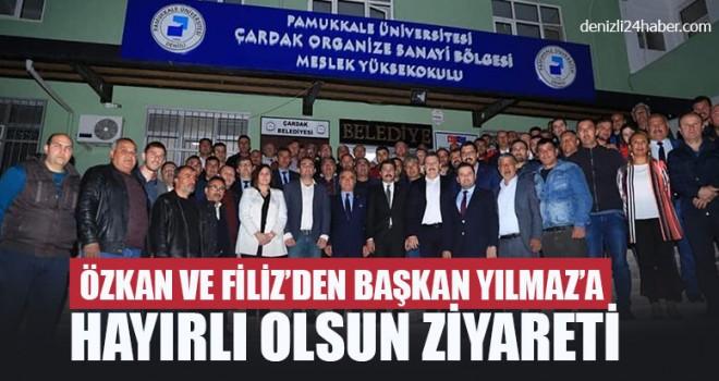 Özkan Ve Filiz'den Başkan Yılmaz'a Hayırlı Olsun Ziyareti