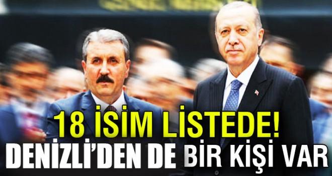 BBP'den AK Parti listesine 18 isim girdi Denizli'den de var