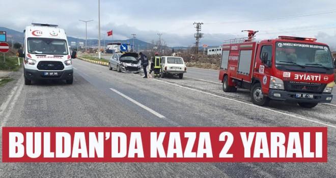 Buldan'da Kaza 2 yaralı