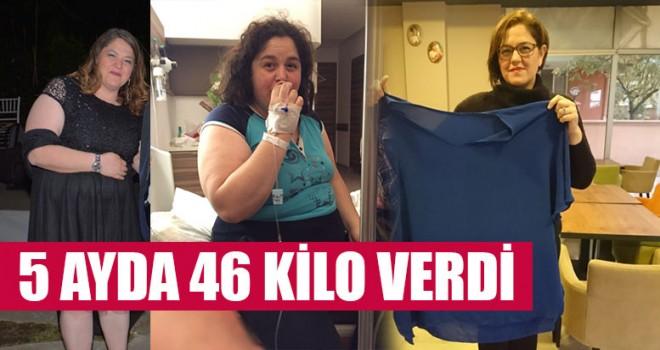 5 Ayda 46 Kilo Verdi