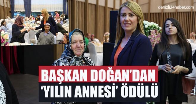 Başkan Şeniz Doğan'dan 'Yılın Annesi' Ödülü