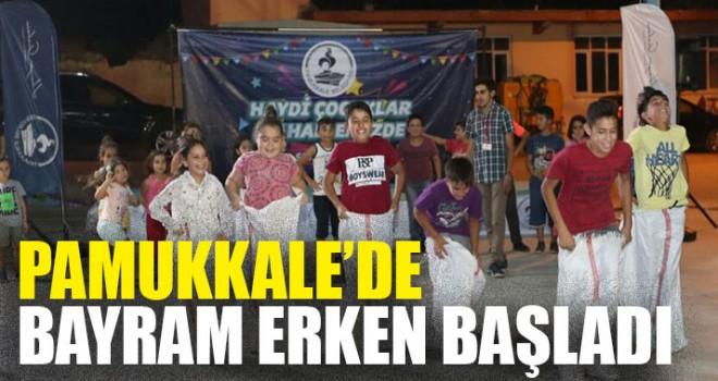 Pamukkale'de Bayram Erken Başladı