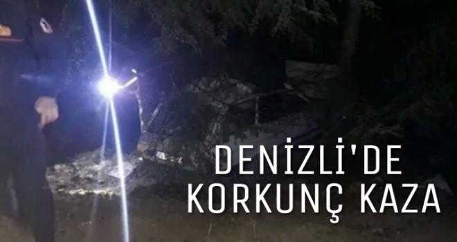 Honaz'da feci kaza 1 ölü 5 yaralı