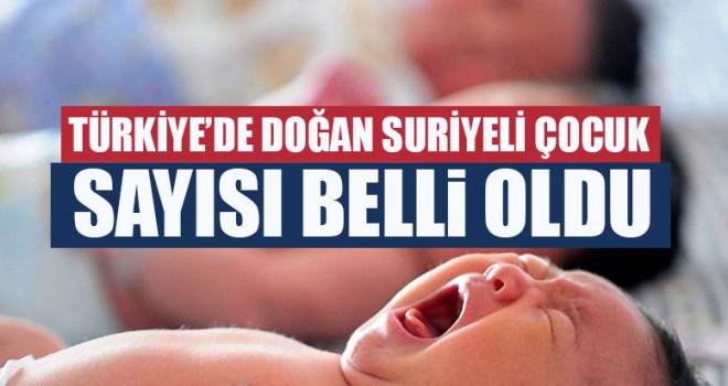 Türkiye'de Doğan Suriyeli Çocuk Sayısı Belli Oldu