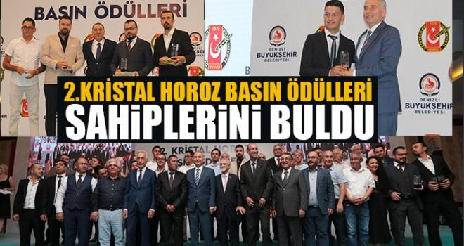 2.Kristal Horoz Basın Ödülleri Sahiplerini Buldu