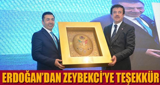 Erdoğan'dan Zeybekci'ye teşekkür