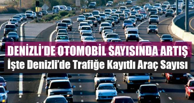 Denizli'de Otomobil Sayısında Artış