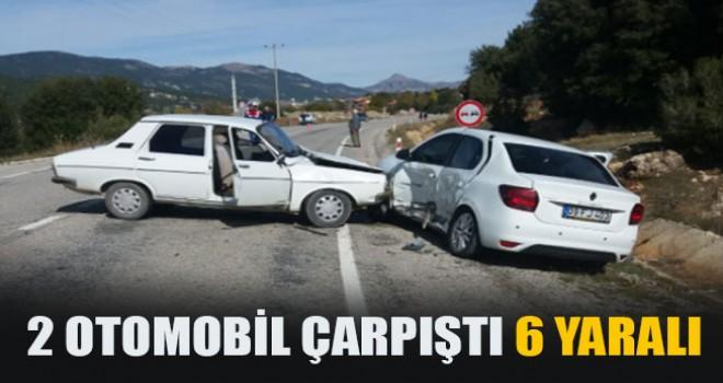 2 Otomobil Çarpıştı 6 Yaralı