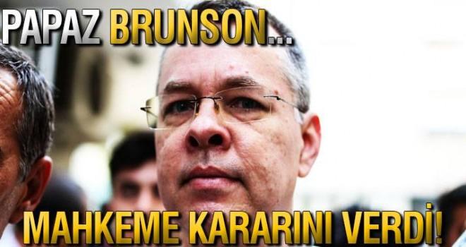 Rahip Brunson davasında karar açıklandı!
