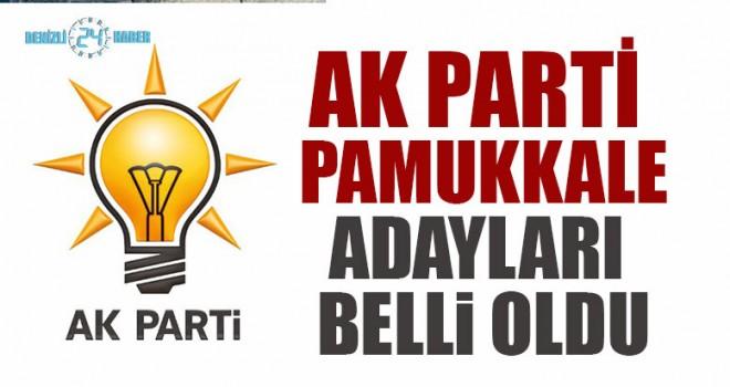 Denizli AK Parti Pamukkale Adayları Belli Oldu
