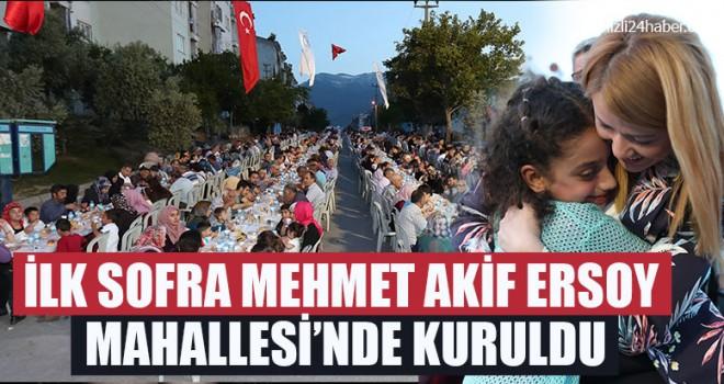 İlk Sofra Mehmet Akif Ersoy Mahallesi'nde Kuruldu