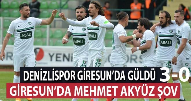 Denizlispor, Giresun'a 3 golle geçti