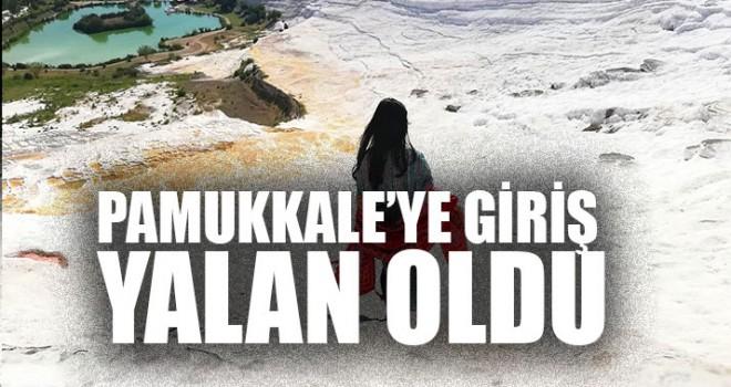 Pamukkale'ye Giriş Yalan Oldu Girişe büyük zam