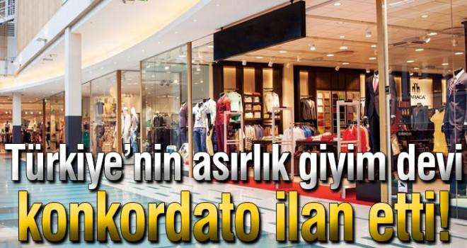 Türkiye'nin Asırlık Giyim Devi Konkordato ilan etti