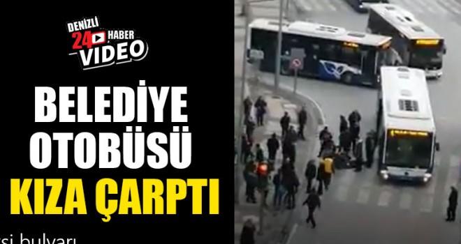 Belediye Otobüsü Kıza Çarptı