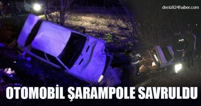 Otomobil Şarampole Savruldu