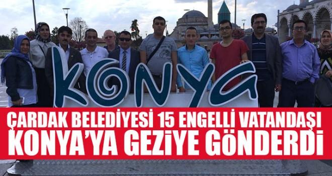 Çardak Belediyesi 15 Engelli Vatandaşı Konya'ya Geziye Gönderdi