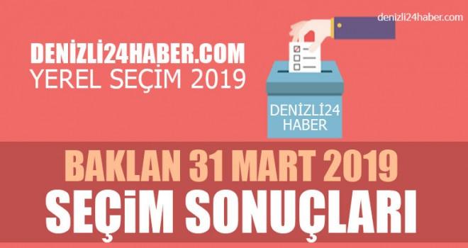 Baklan yerel seçim 2019 sonuçları | Baklan belediye seçim sonuçları | Cumhur ittifakı Millet ittifakı oy oranı