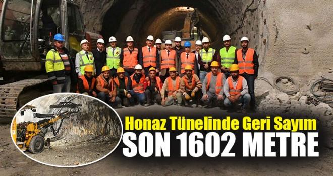 Honaz Tünelinde Son 1602 Metre